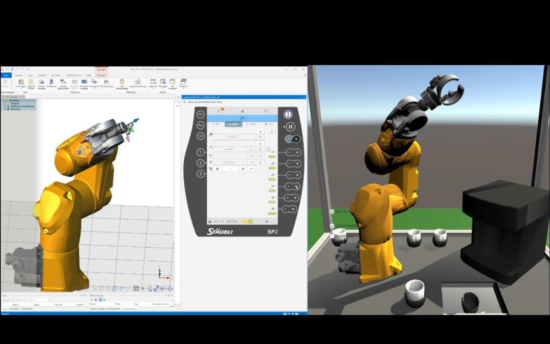 Digitalen Roboterzwilling über OPC UA steuern